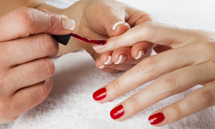 Classic manicure with varnish